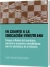 EN CUANTO A LA EDUCACIÓN VENEZOLANA - Carlos Eduardo Chacón Guillen